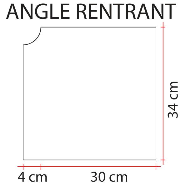 Angle rentrant de margelle apparence bois pierdor l - Cache angle margelle piscine bois ...